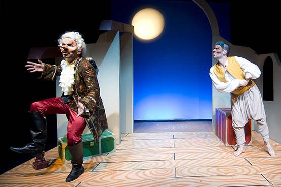 Valentino Rufini e Akil Pillabán, obra de Talía Teatro
